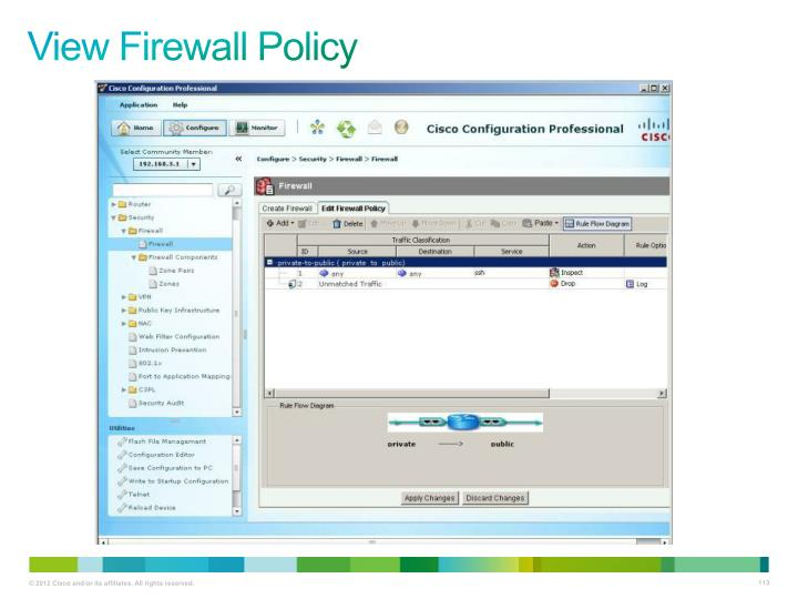 View Firewall Policy