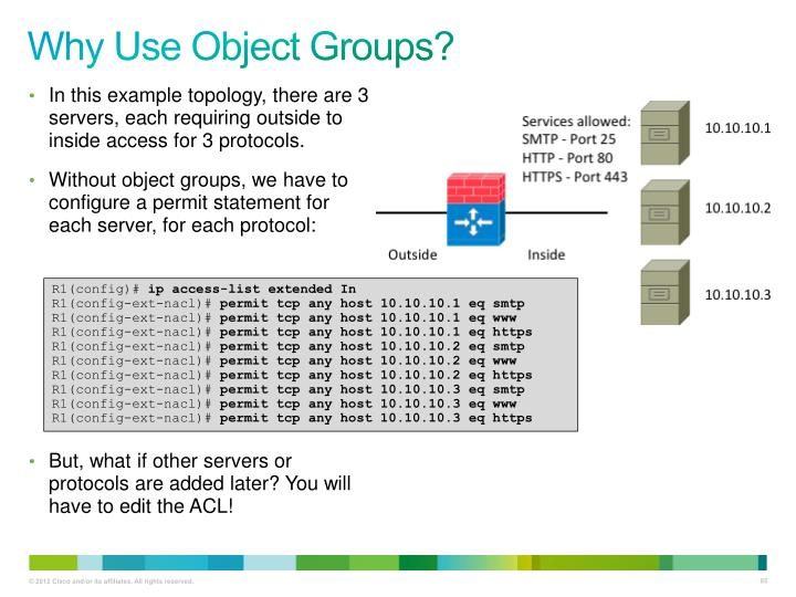 Why Use Object Groups?