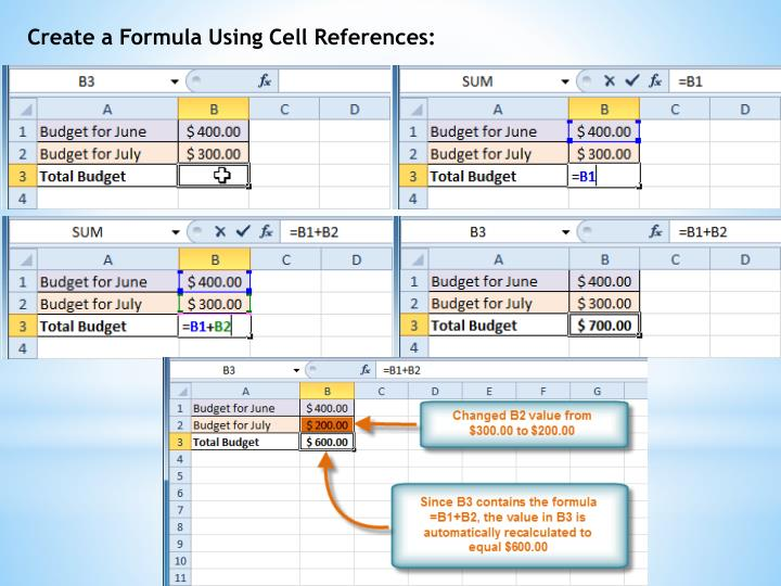 Create a Formula Using Cell