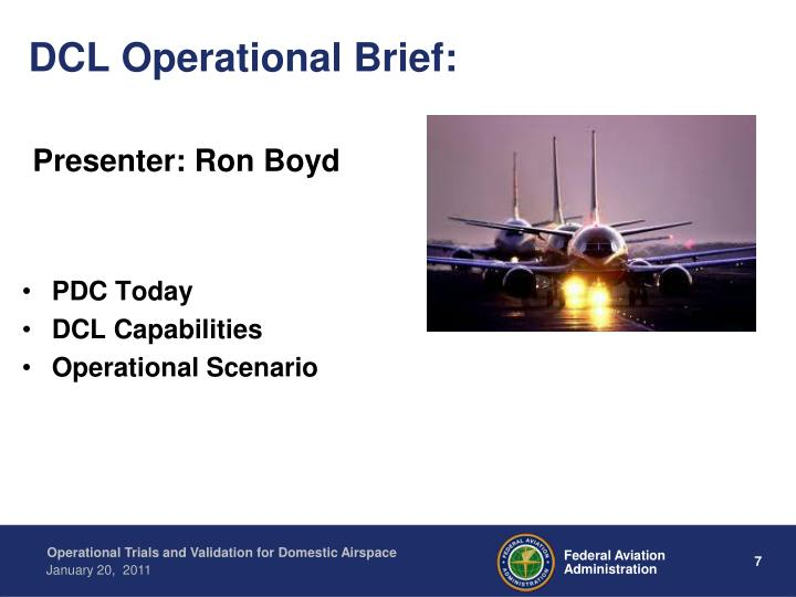 DCL Operational Brief: