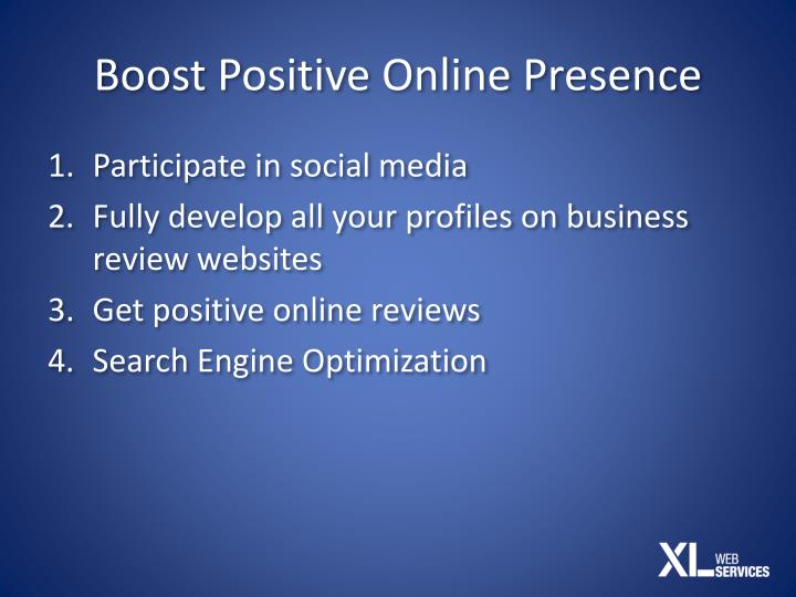 Boost Positive Online Presence