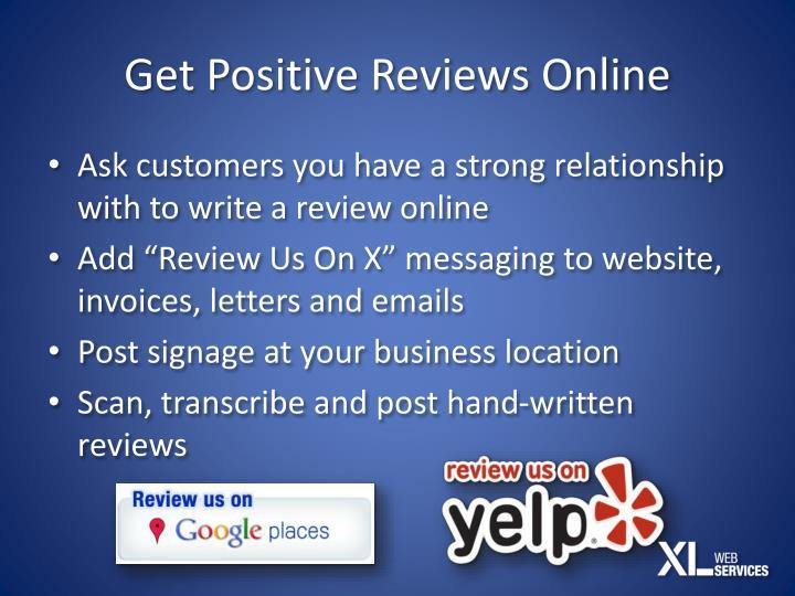 Get Positive Reviews Online