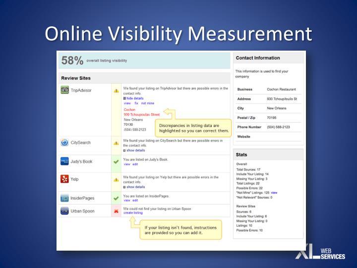 Online Visibility Measurement