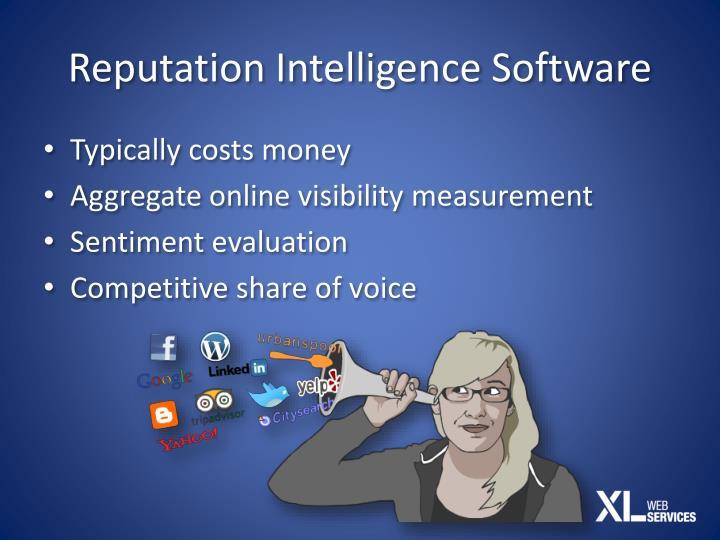 Reputation Intelligence Software