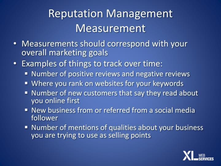 Reputation Management Measurement