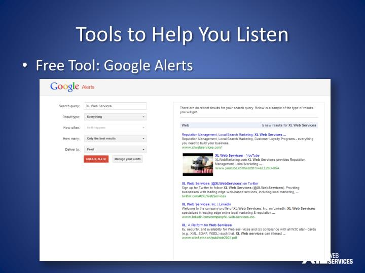 Tools to Help You Listen