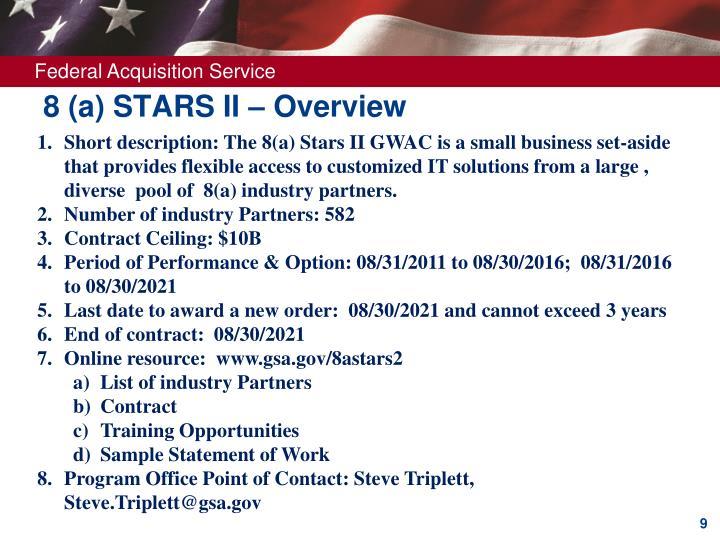 8 (a) STARS II – Overview