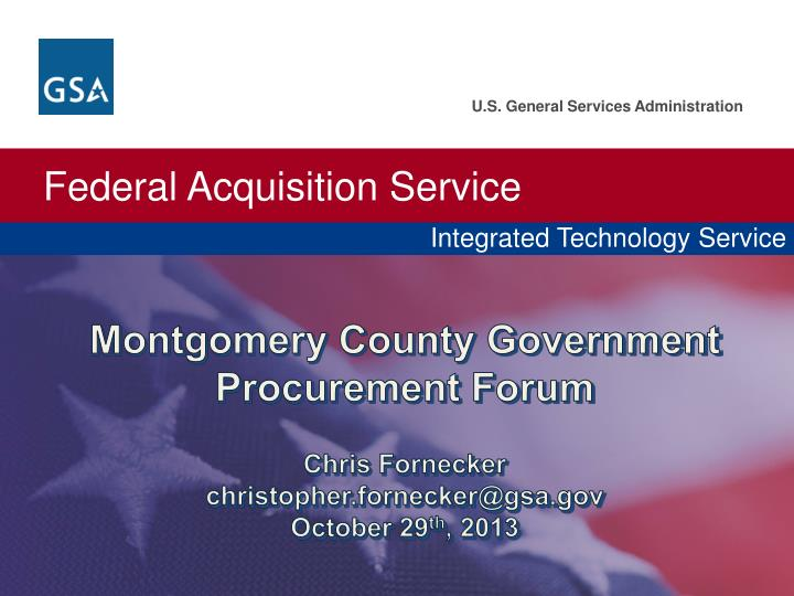 Montgomery County Government Procurement Forum