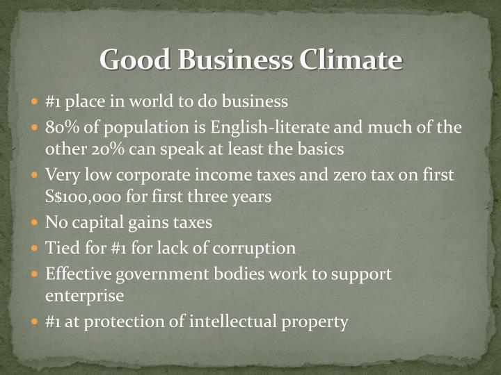 Good Business Climate