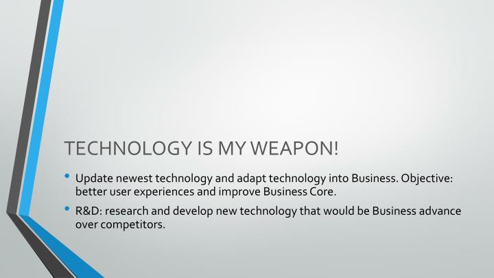 TECHNOLOGY IS MY WEAPON!