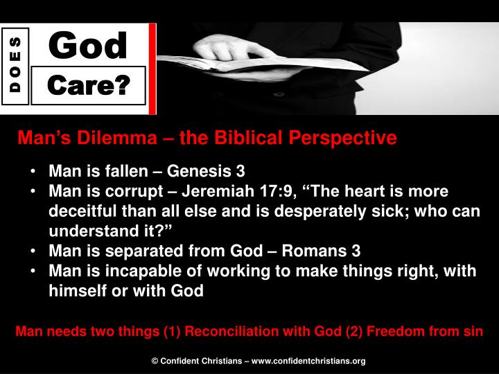 Man's Dilemma – the Biblical Perspective