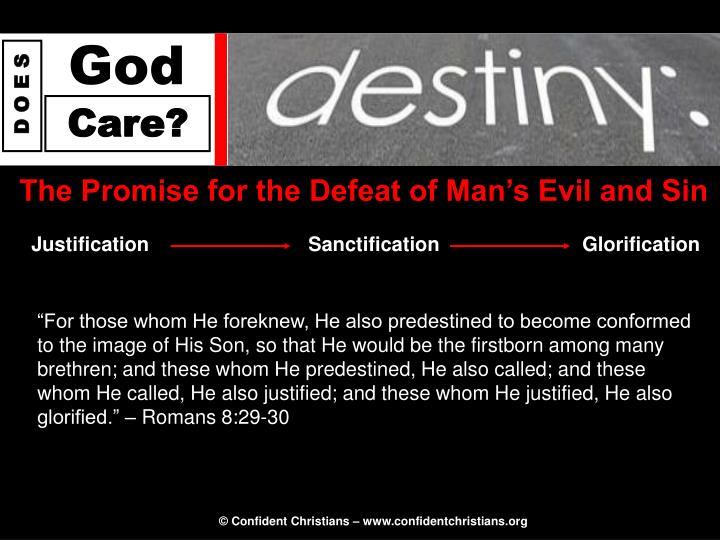 The Promise for the Defeat of Man's Evil and Sin