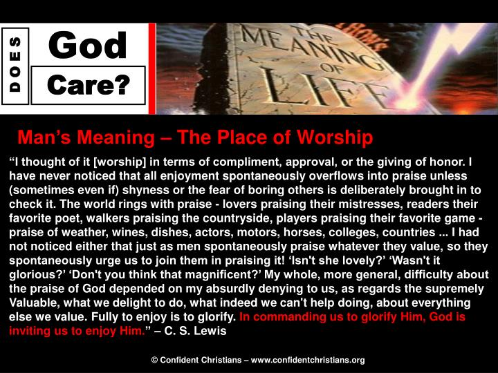 Man's Meaning – The Place of Worship