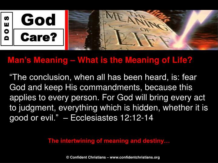 Man's Meaning – What is the Meaning of Life?