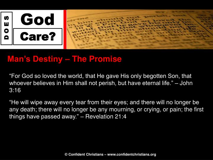 Man's Destiny – The Promise