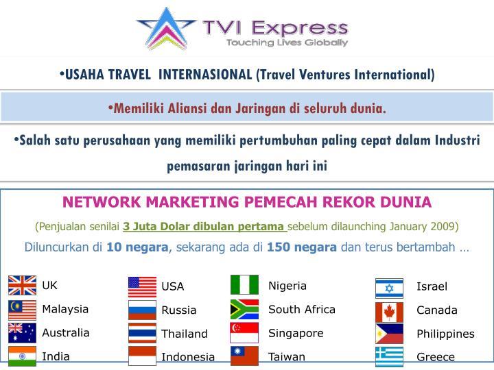 USAHA TRAVEL  INTERNASIONAL (Travel Ventures International)