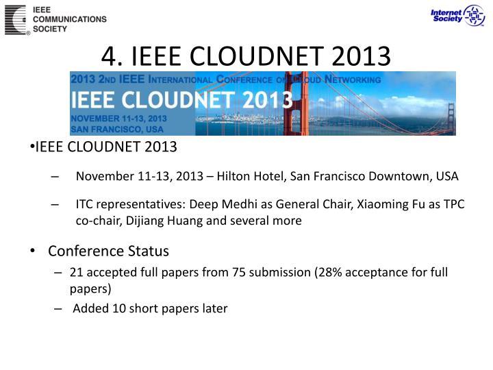 4. IEEE CLOUDNET 2013