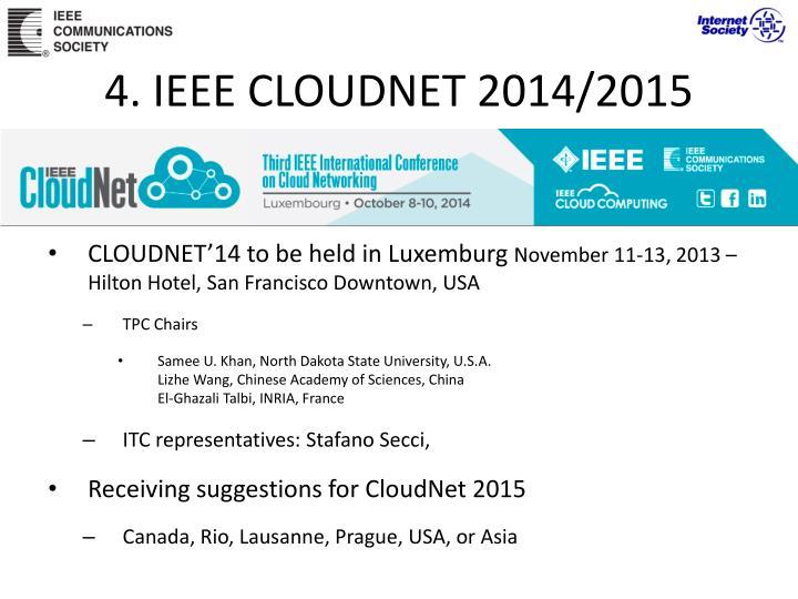4. IEEE CLOUDNET