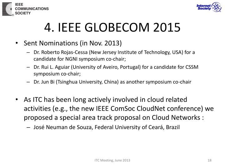 4. IEEE GLOBECOM