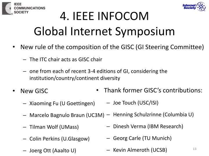 4. IEEE INFOCOM
