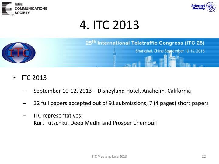 4. ITC 2013