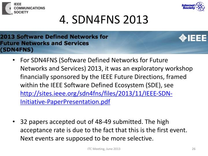4. SDN4FNS 2013