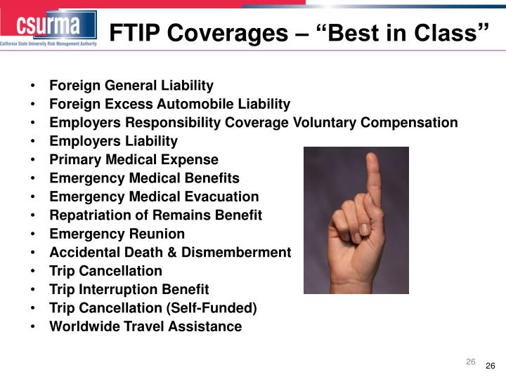 "FTIP Coverages – ""Best in Class"