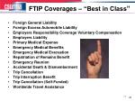 ftip coverages best in class