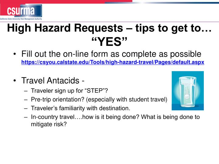 High Hazard Requests – tips to get to…