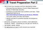 travel preparation part 2