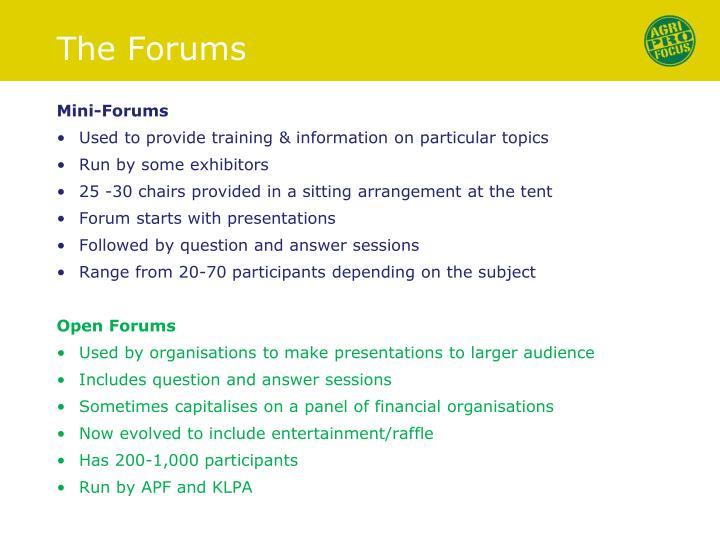 Mini-Forums