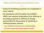 bribery the foreign corrupt practices act