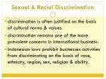 sexual racial discrimination
