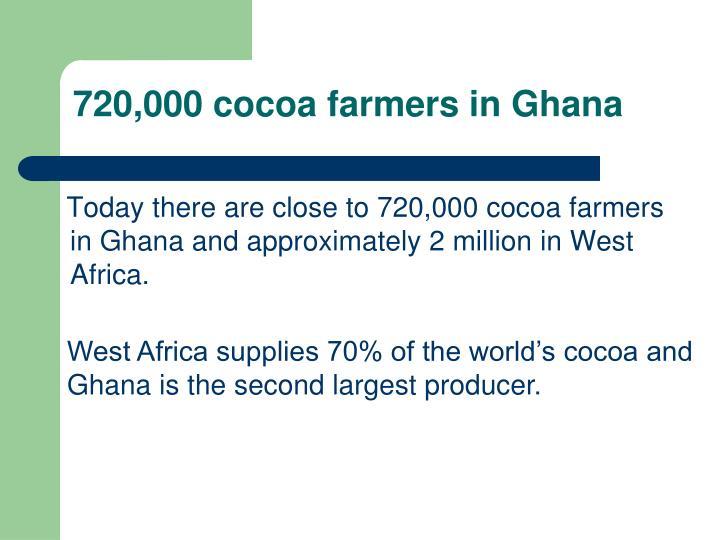 720,000 cocoa farmers in Ghana