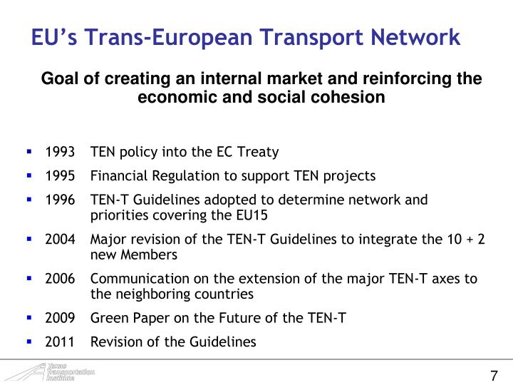 EU's Trans-European Transport Network