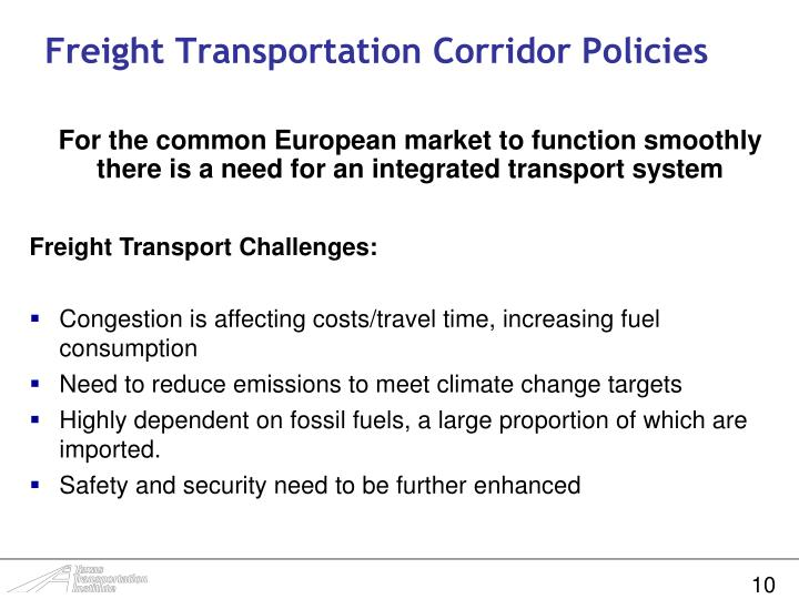 Freight Transportation Corridor Policies