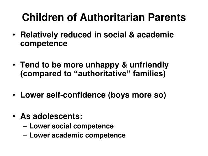 Children of Authoritarian Parents