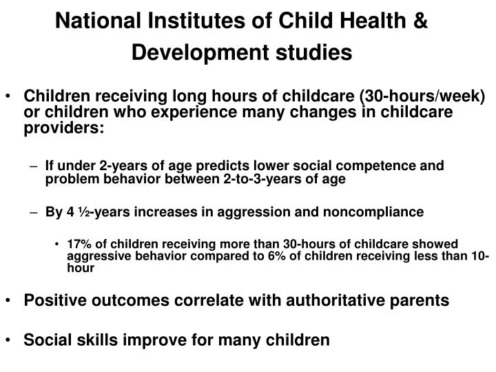 National Institutes of Child Health & Development studies