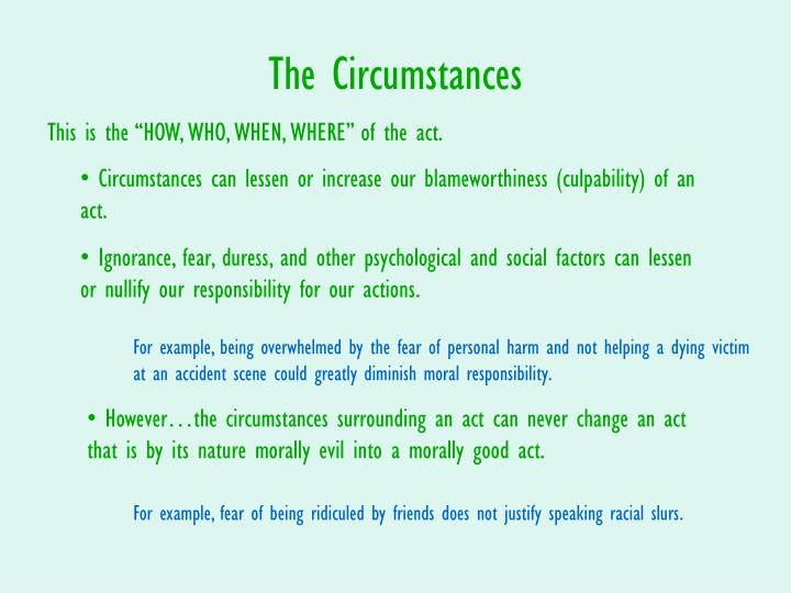 The Circumstances