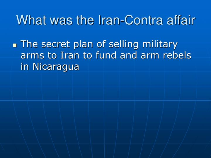 What was the Iran-Contra affair