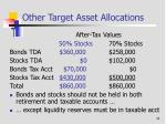 other target asset allocations