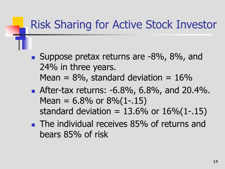 Risk Sharing for Active Stock Investor