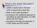 what is the asset allocation