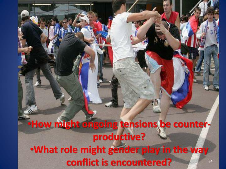 How might ongoing tensions be counter-productive?