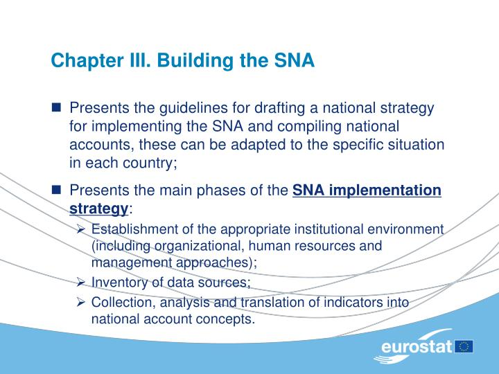 Chapter III. Building the SNA