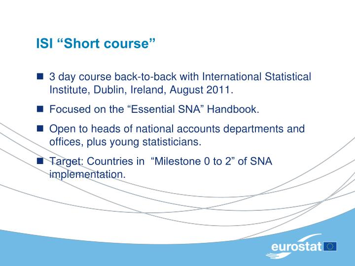 "ISI ""Short course"""