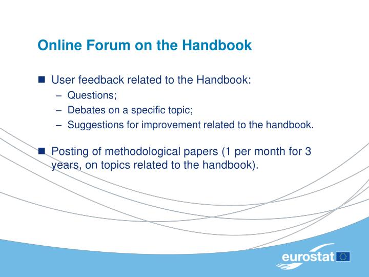 Online Forum on the Handbook