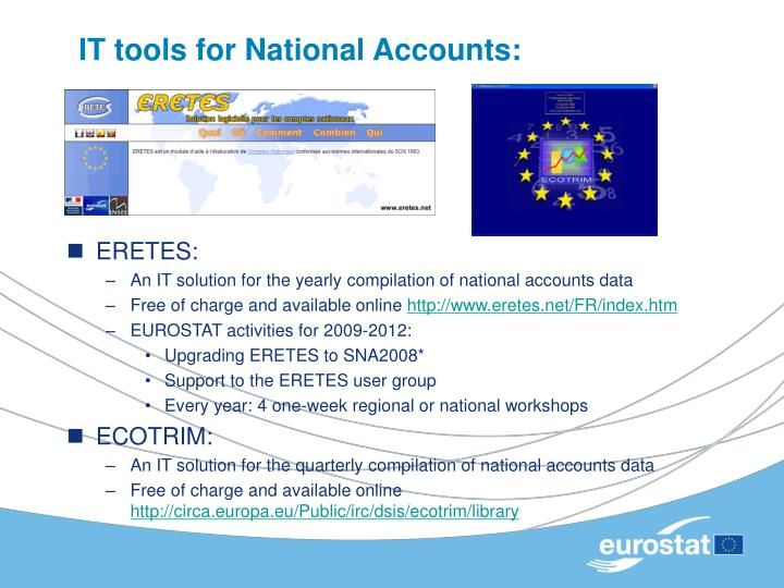 IT tools for National Accounts: