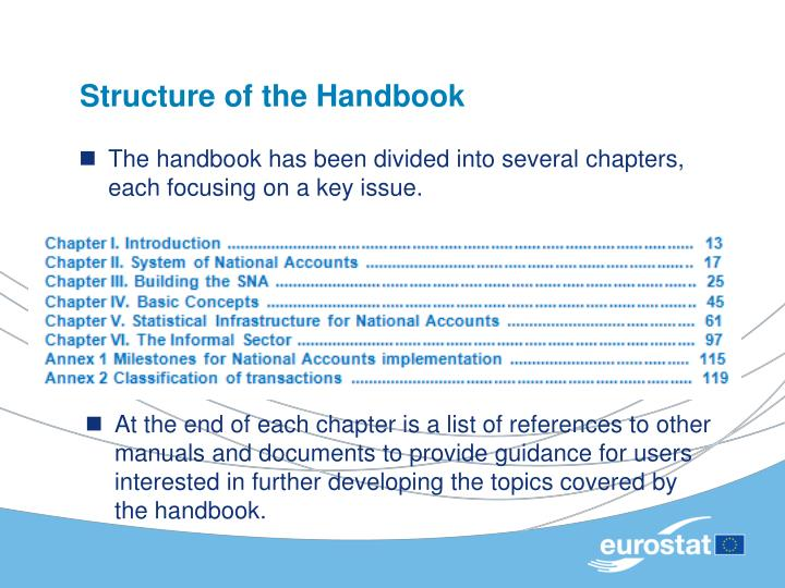 Structure of the Handbook