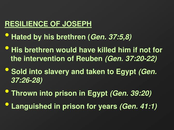 RESILIENCE OF JOSEPH